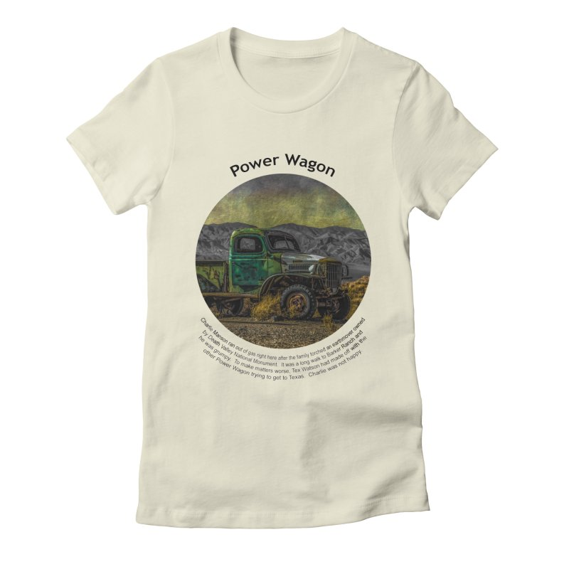 Power Wagon Women's Fitted T-Shirt by Hogwash's Artist Shop