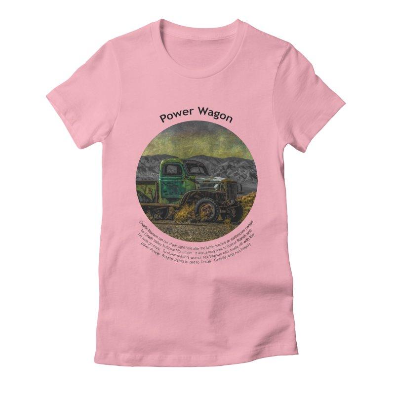 Power Wagon Women's Fitted T-Shirt by Hogwash's Artist Shop