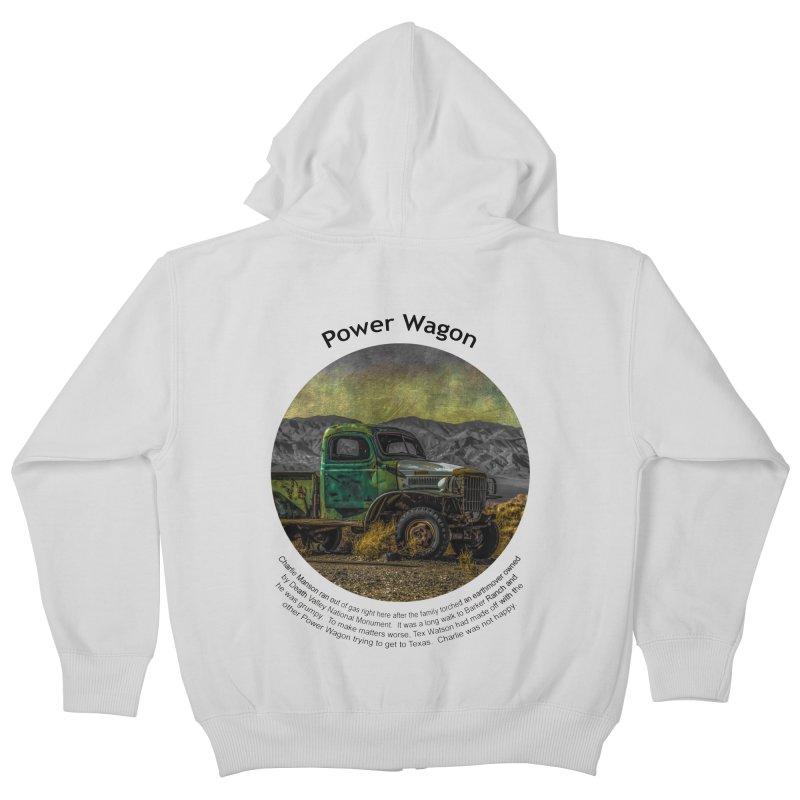Power Wagon Kids Zip-Up Hoody by Hogwash's Artist Shop