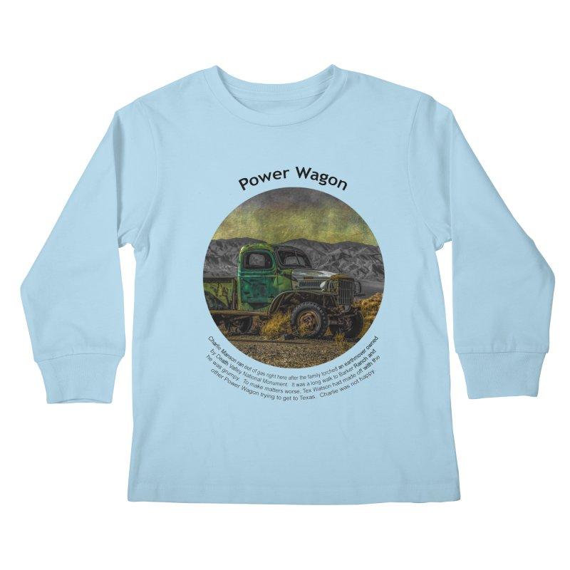 Power Wagon Kids Longsleeve T-Shirt by Hogwash's Artist Shop