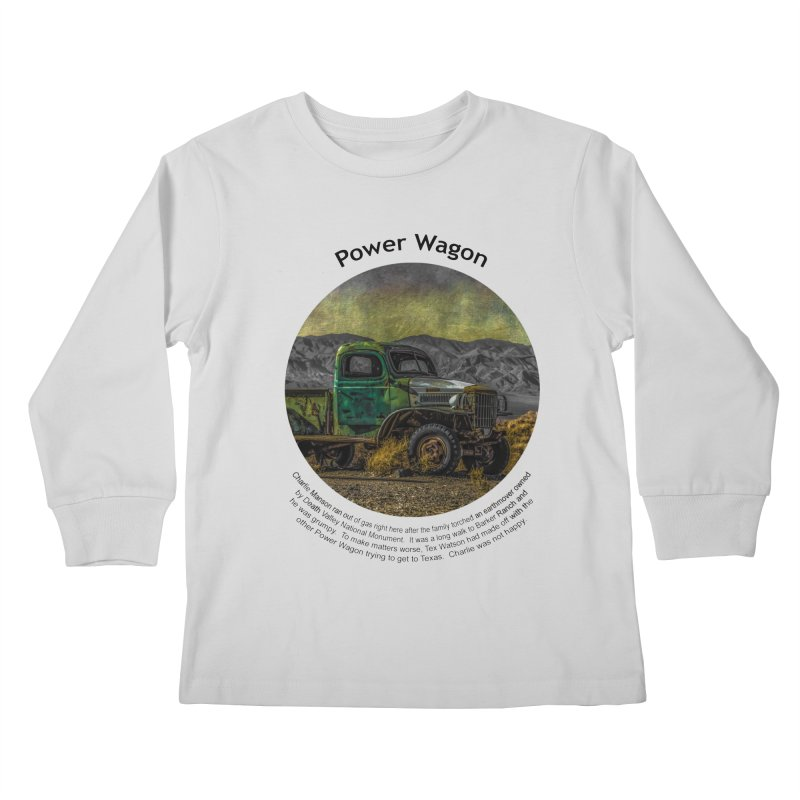 Power Wagon Kids Longsleeve T-Shirt by Hogwash's Artist Shop