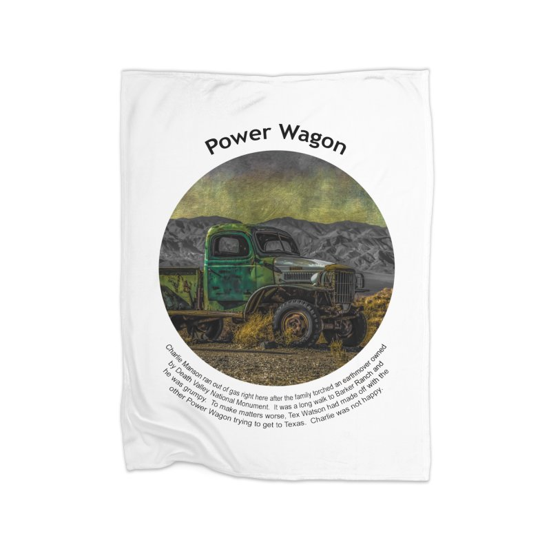 Power Wagon Home Fleece Blanket Blanket by Hogwash's Artist Shop