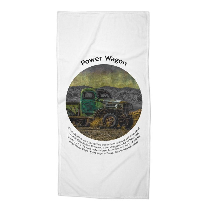 Power Wagon Accessories Beach Towel by Hogwash's Artist Shop