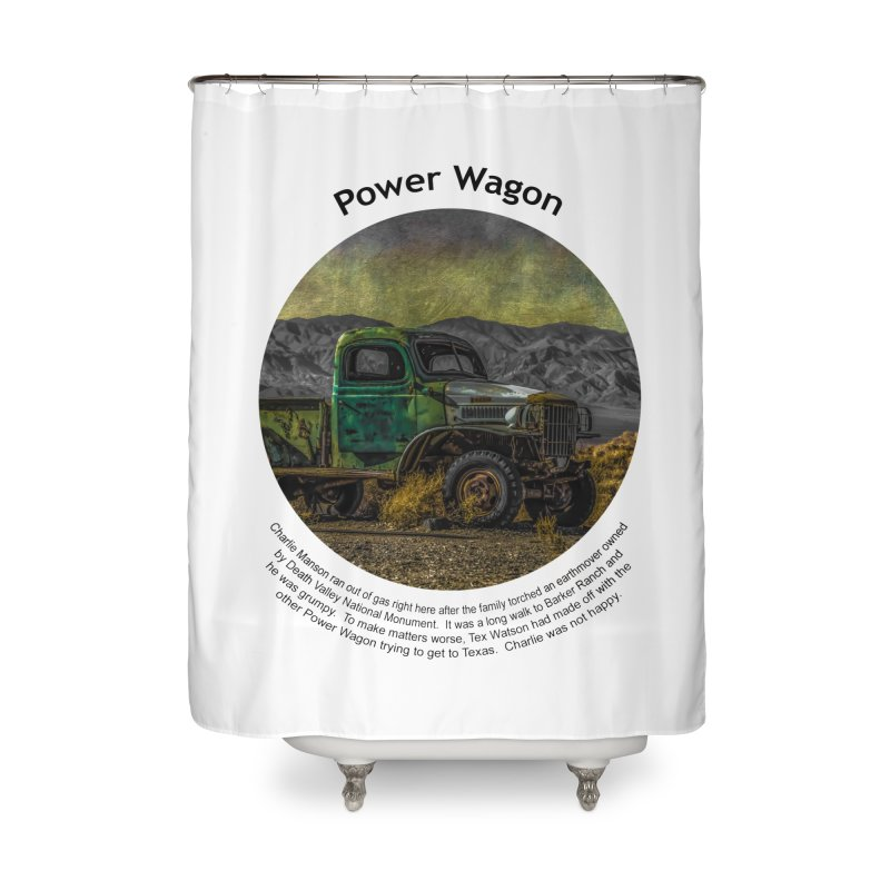 Power Wagon Home Shower Curtain by Hogwash's Artist Shop