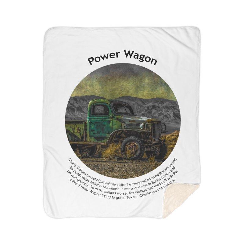 Power Wagon Home Blanket by Hogwash's Artist Shop