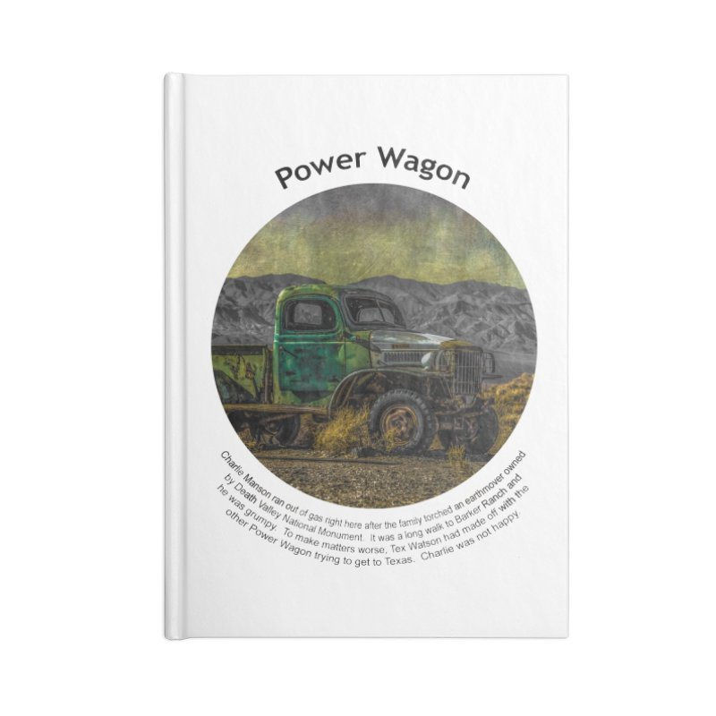 Power Wagon Accessories Notebook by Hogwash's Artist Shop