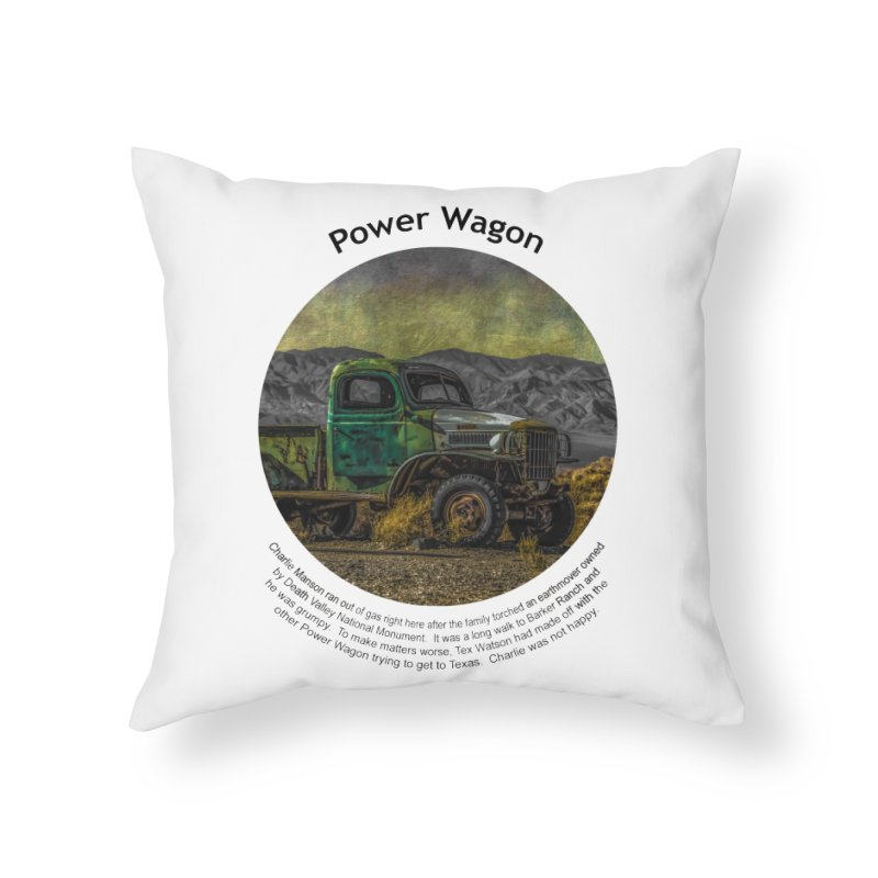 Power Wagon Home Throw Pillow by Hogwash's Artist Shop