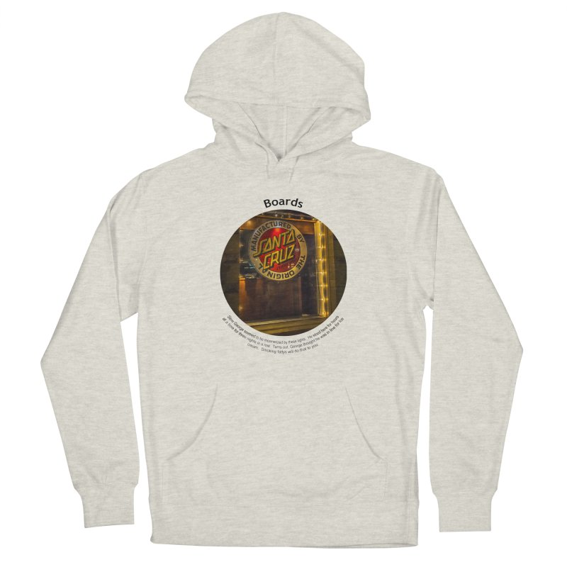 Boards Women's French Terry Pullover Hoody by Hogwash's Artist Shop