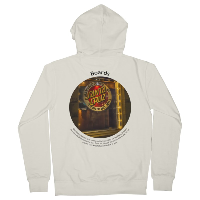 Boards Women's French Terry Zip-Up Hoody by Hogwash's Artist Shop