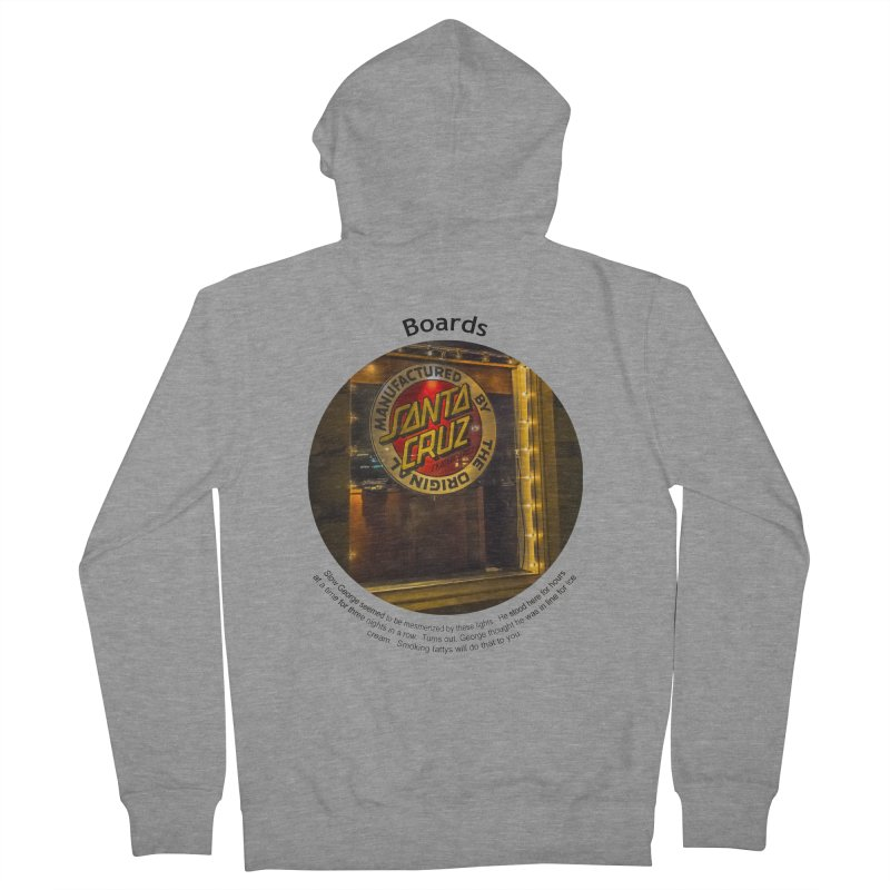 Boards Men's French Terry Zip-Up Hoody by Hogwash's Artist Shop