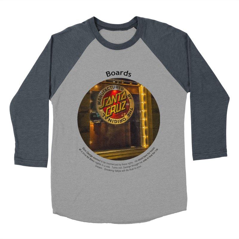 Boards Women's Baseball Triblend Longsleeve T-Shirt by Hogwash's Artist Shop