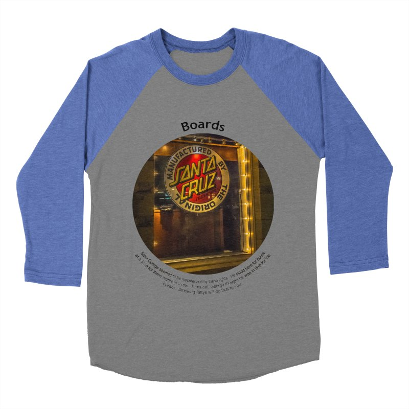 Boards Men's Baseball Triblend Longsleeve T-Shirt by Hogwash's Artist Shop