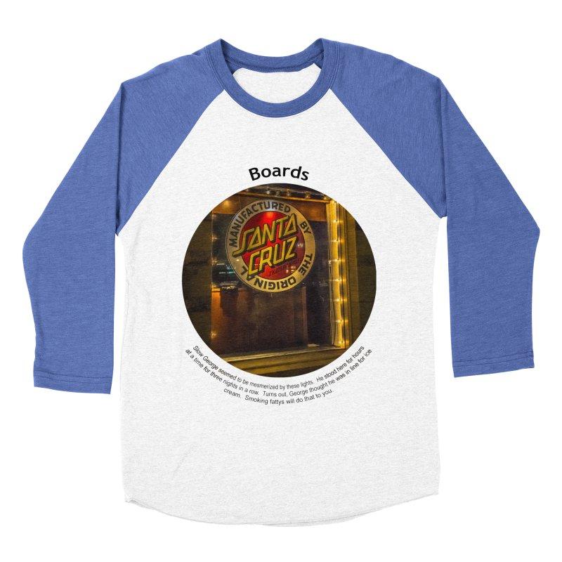 Boards Men's Baseball Triblend T-Shirt by Hogwash's Artist Shop