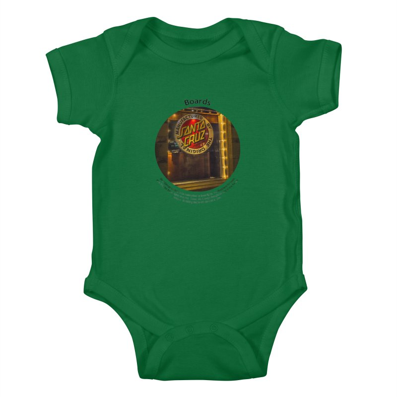 Boards Kids Baby Bodysuit by Hogwash's Artist Shop