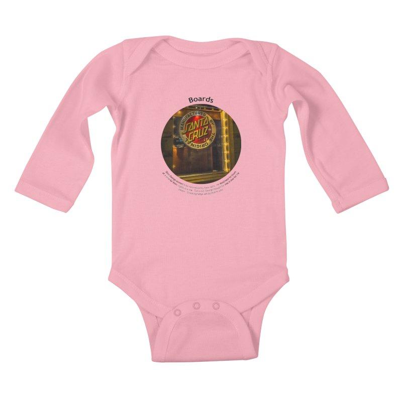 Boards Kids Baby Longsleeve Bodysuit by Hogwash's Artist Shop
