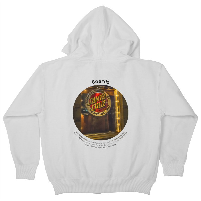 Boards Kids Zip-Up Hoody by Hogwash's Artist Shop