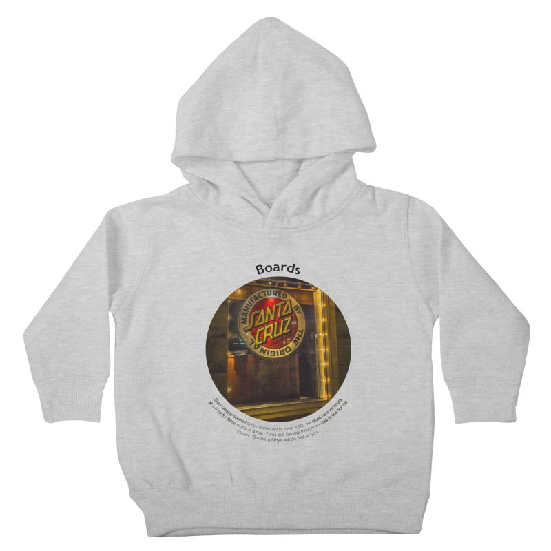 Boards Kids Toddler Pullover Hoody by Hogwash's Artist Shop