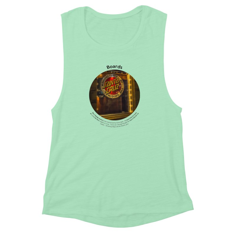Boards Women's Muscle Tank by Hogwash's Artist Shop