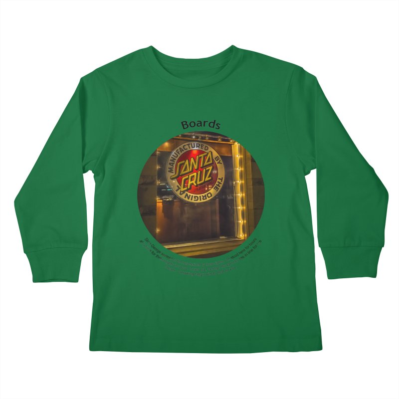 Boards Kids Longsleeve T-Shirt by Hogwash's Artist Shop