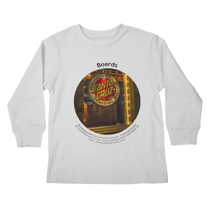 Boards Kids Longsleeve T-Shirt by Hogwash's Artist Shop