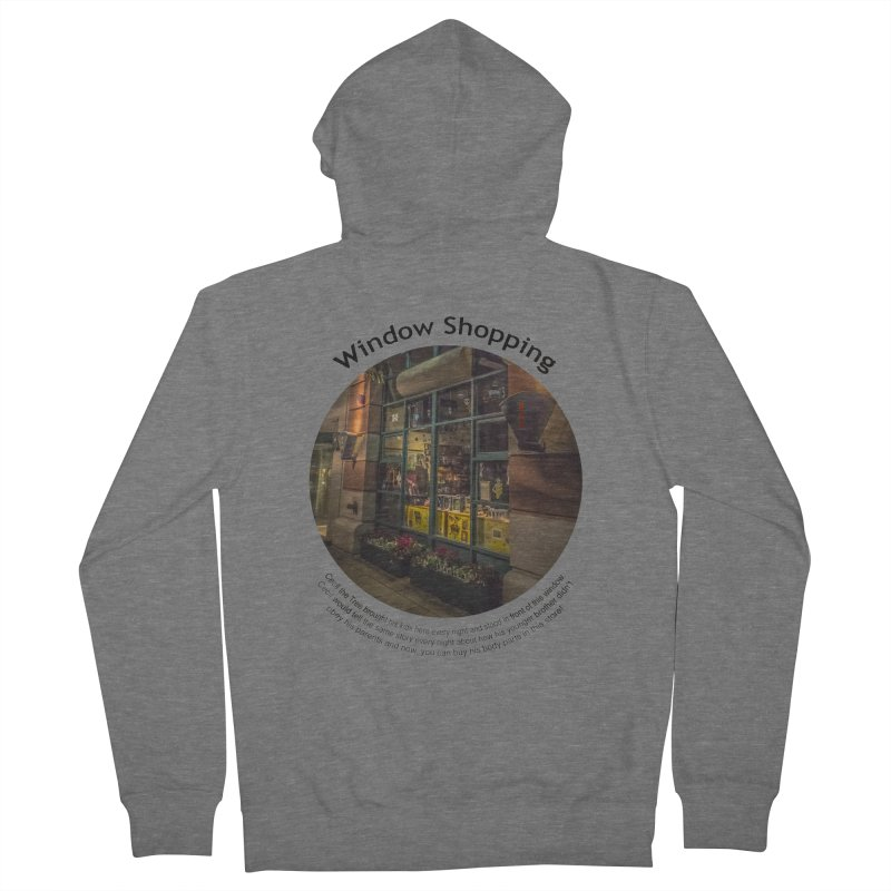 Window Shopping Men's French Terry Zip-Up Hoody by Hogwash's Artist Shop