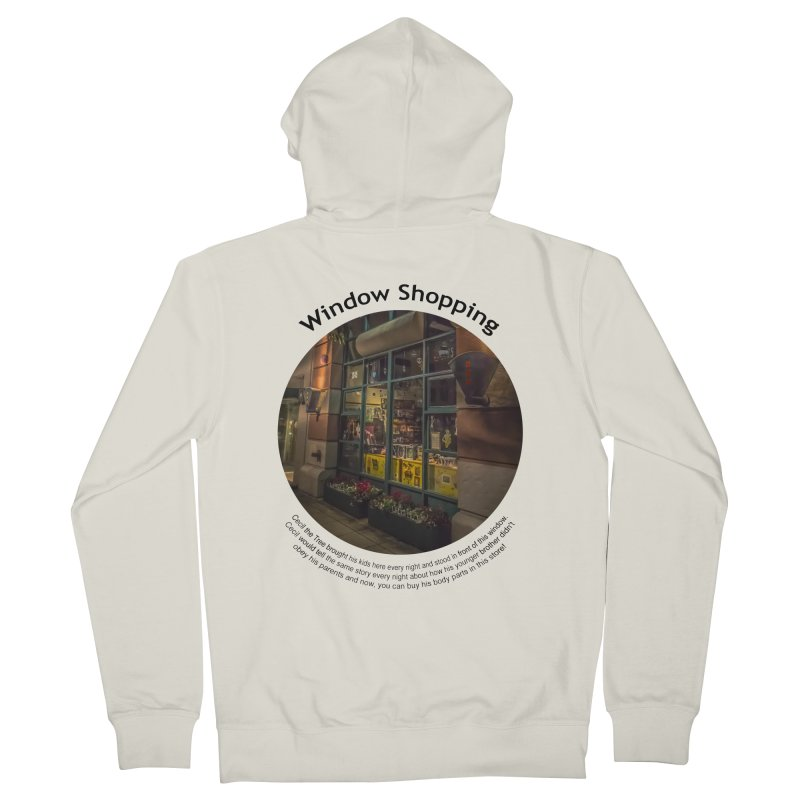 Window Shopping Men's Zip-Up Hoody by Hogwash's Artist Shop