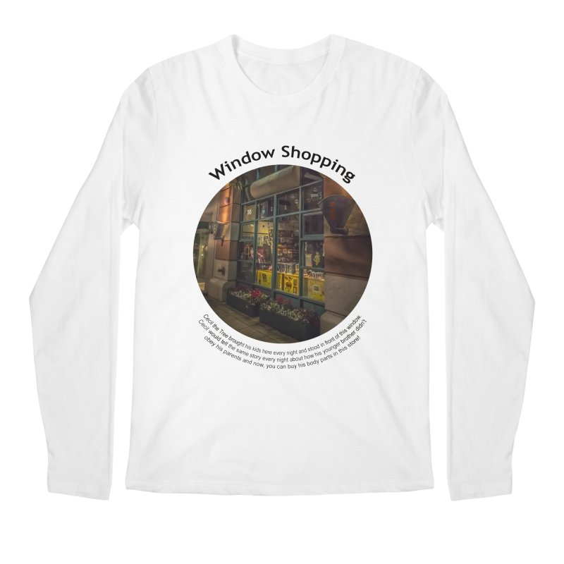 Window Shopping Men's Longsleeve T-Shirt by Hogwash's Artist Shop