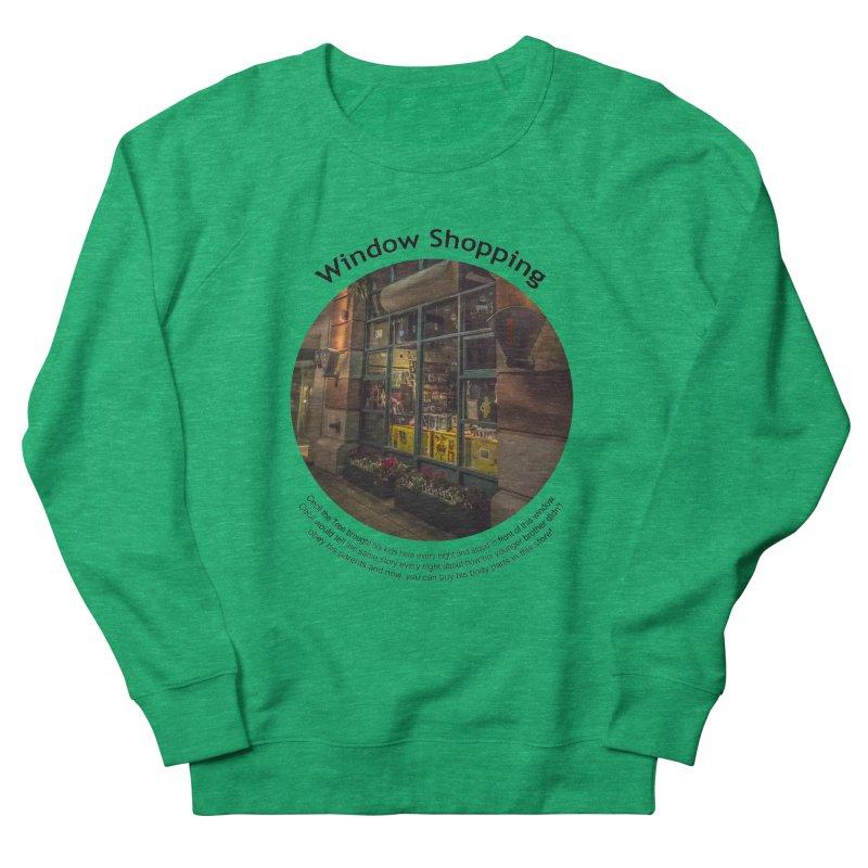 Window Shopping Men's Sweatshirt by Hogwash's Artist Shop