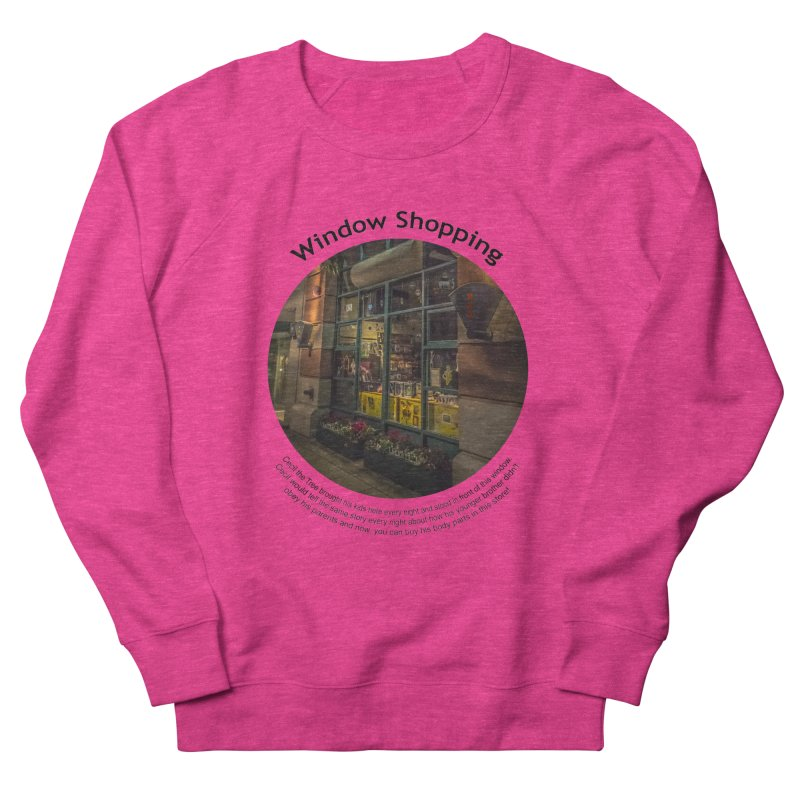 Window Shopping Men's Sweatshirt by Hogwash's Artist Shop