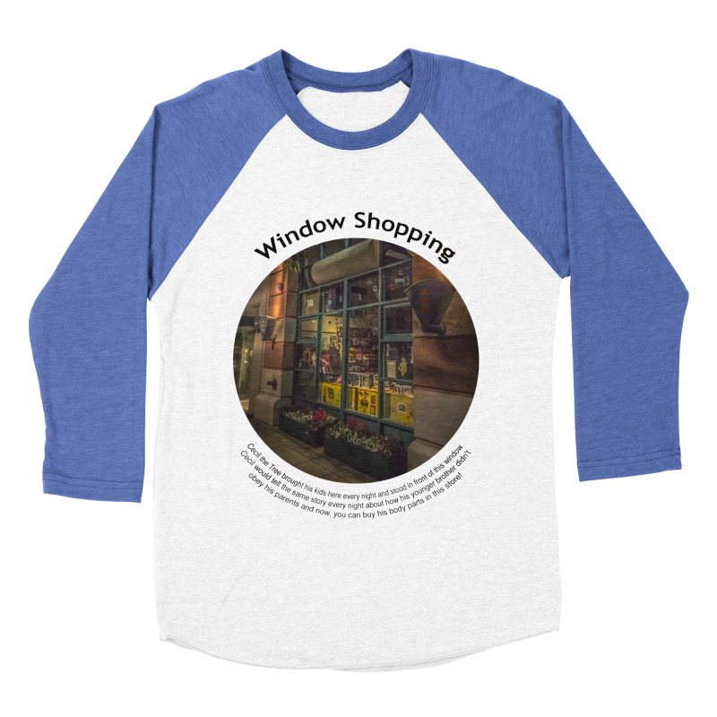Window Shopping Women's Baseball Triblend Longsleeve T-Shirt by Hogwash's Artist Shop