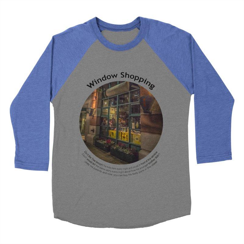 Window Shopping Men's Baseball Triblend T-Shirt by Hogwash's Artist Shop