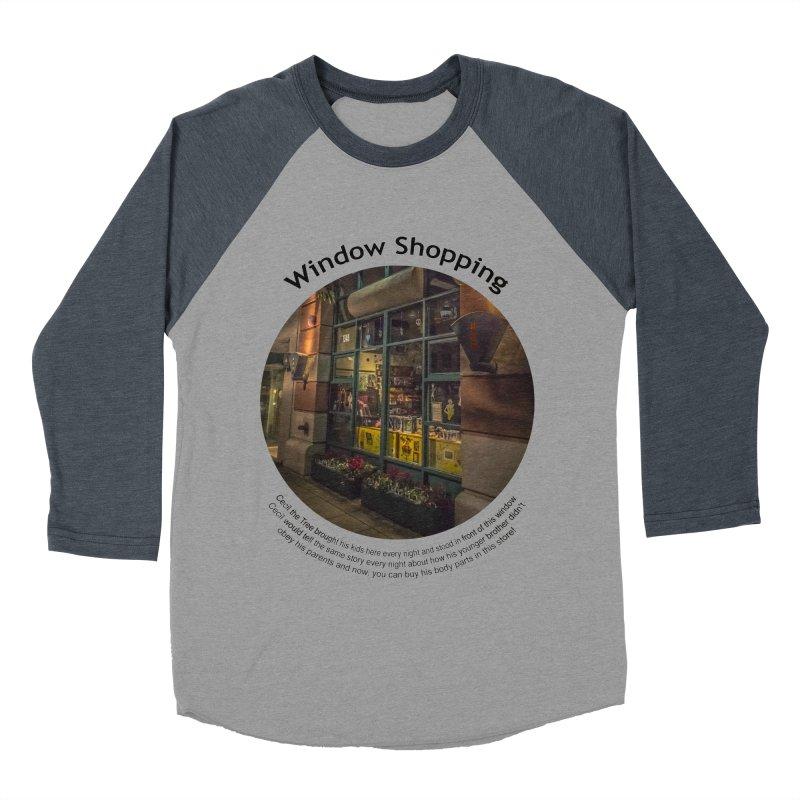 Window Shopping Men's Baseball Triblend Longsleeve T-Shirt by Hogwash's Artist Shop