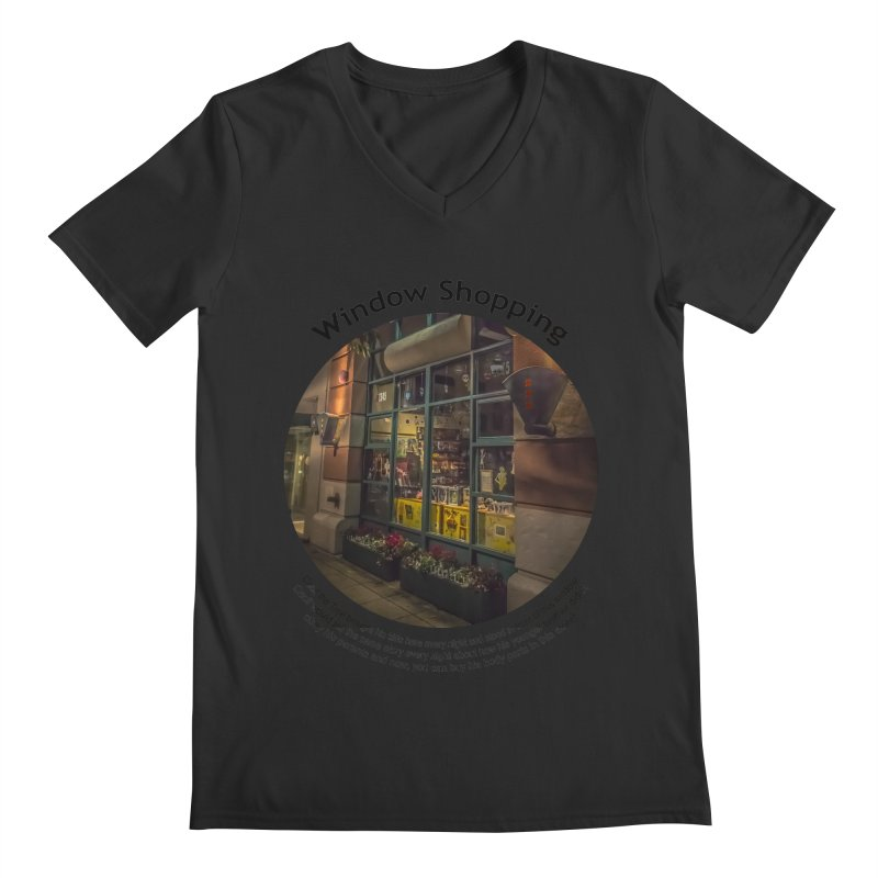 Window Shopping Men's Regular V-Neck by Hogwash's Artist Shop