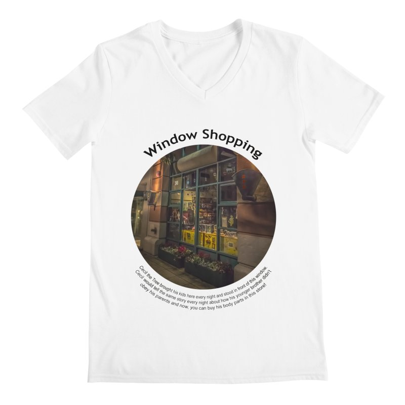 Window Shopping Men's V-Neck by Hogwash's Artist Shop