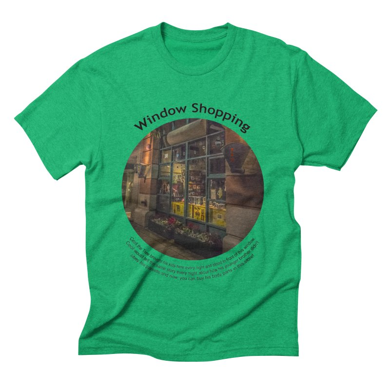 Window Shopping Men's Triblend T-shirt by Hogwash's Artist Shop