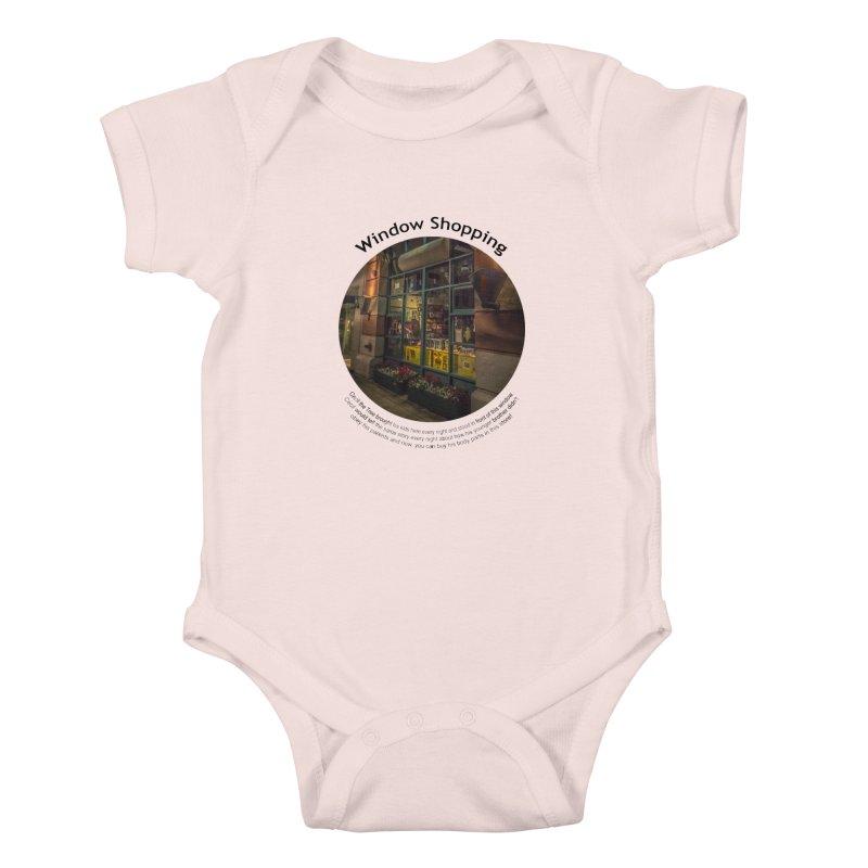 Window Shopping Kids Baby Bodysuit by Hogwash's Artist Shop