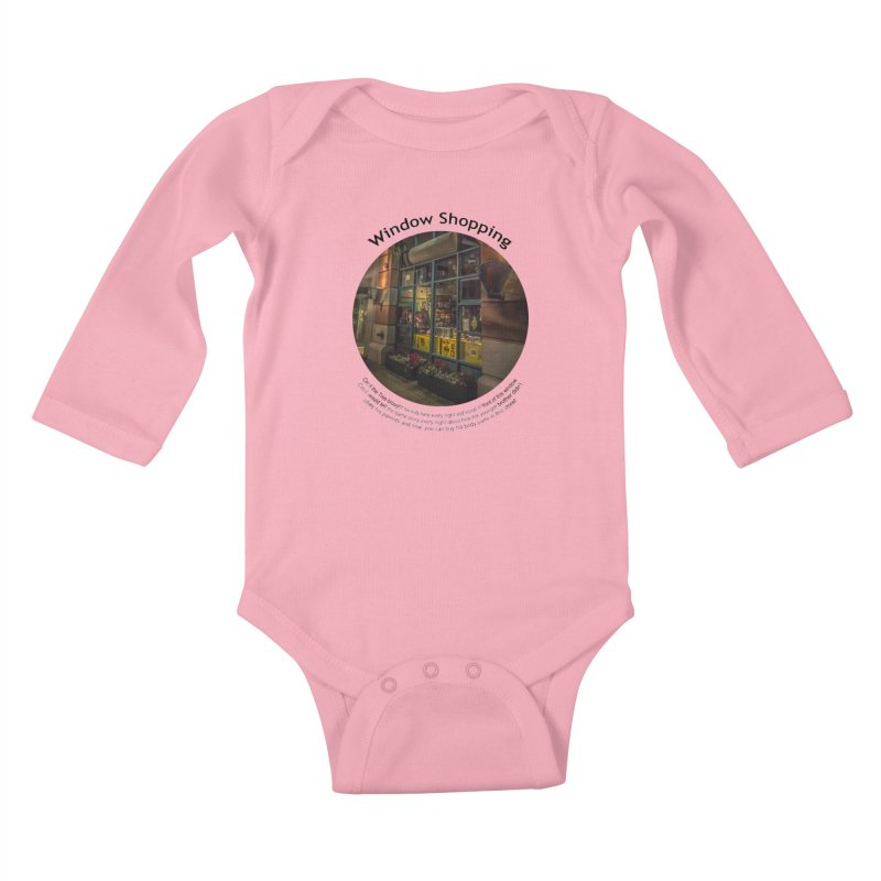 Window Shopping Kids Baby Longsleeve Bodysuit by Hogwash's Artist Shop