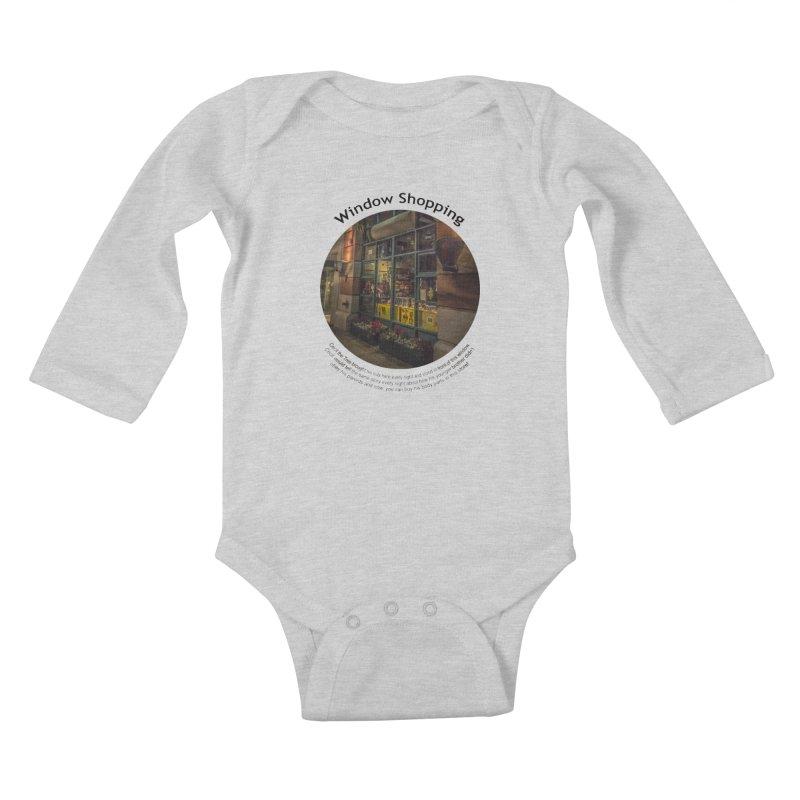 Window Shopping Kids Baby Longsleeve Bodysuit by Hogwash's Artist Shop