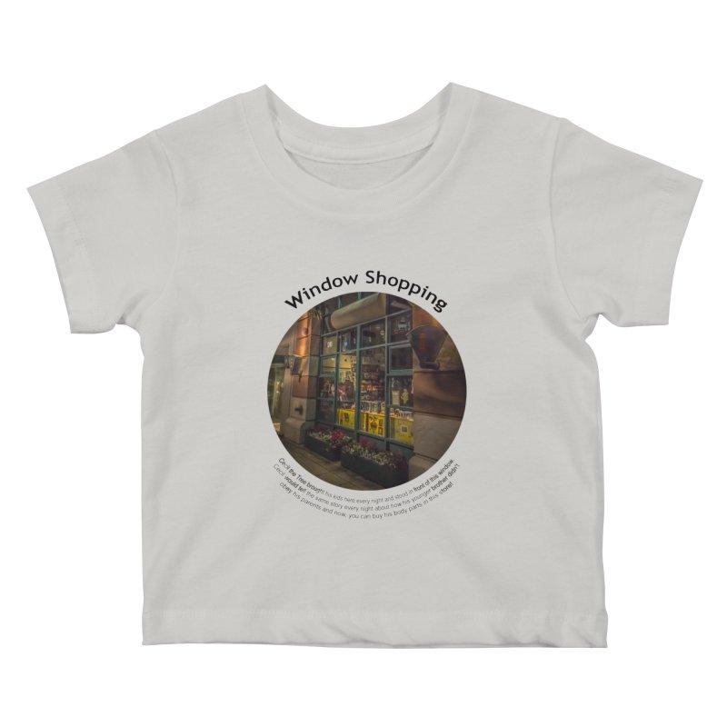Window Shopping Kids Baby T-Shirt by Hogwash's Artist Shop