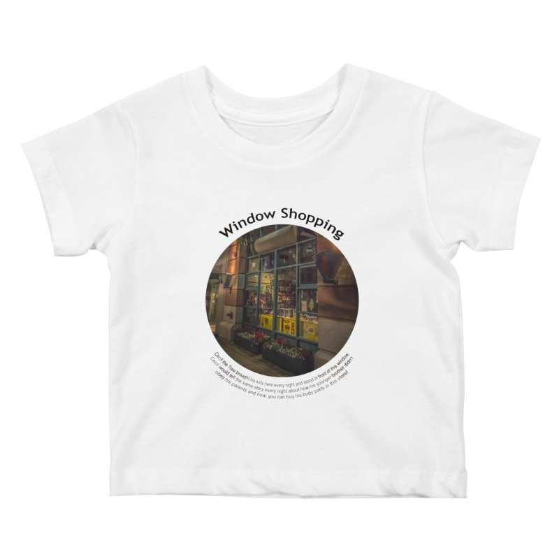 Window Shopping Kids Baby T-Shirt by Hogwash's Artist Shop