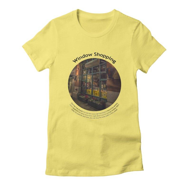Window Shopping Women's T-Shirt by Hogwash's Artist Shop