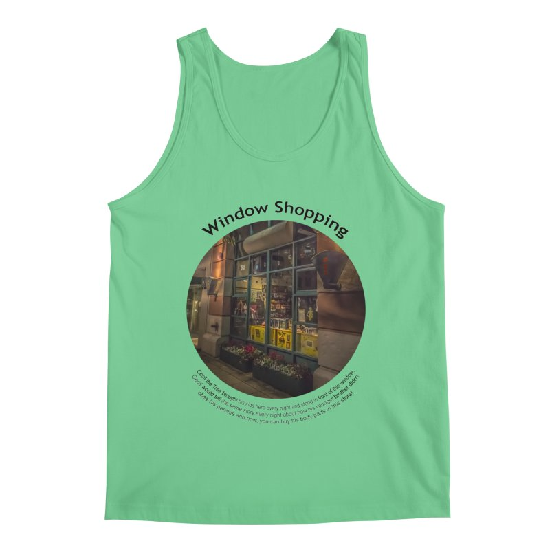 Window Shopping Men's Tank by Hogwash's Artist Shop