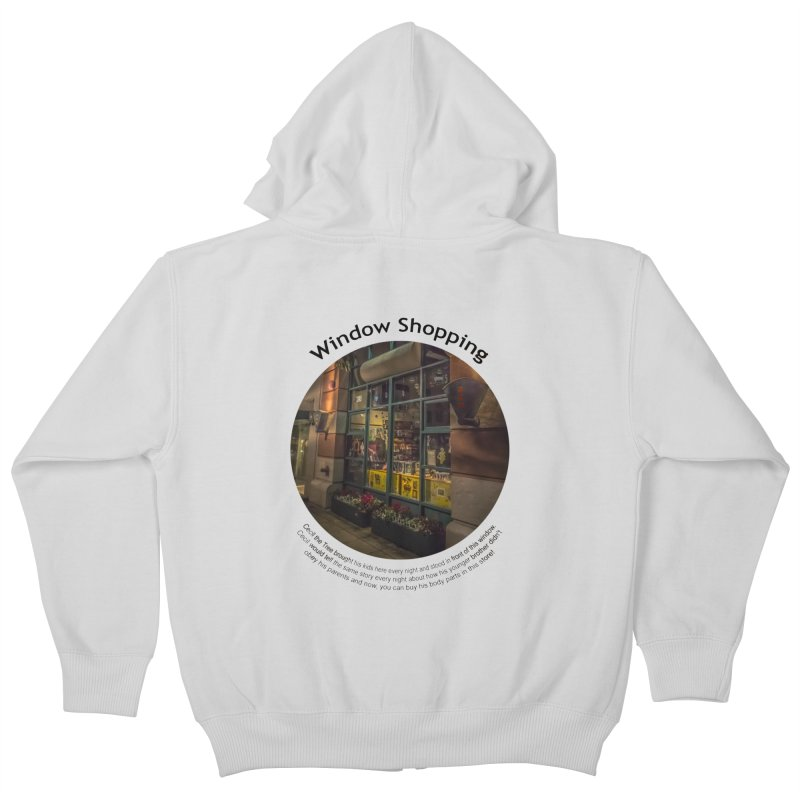 Window Shopping Kids Zip-Up Hoody by Hogwash's Artist Shop