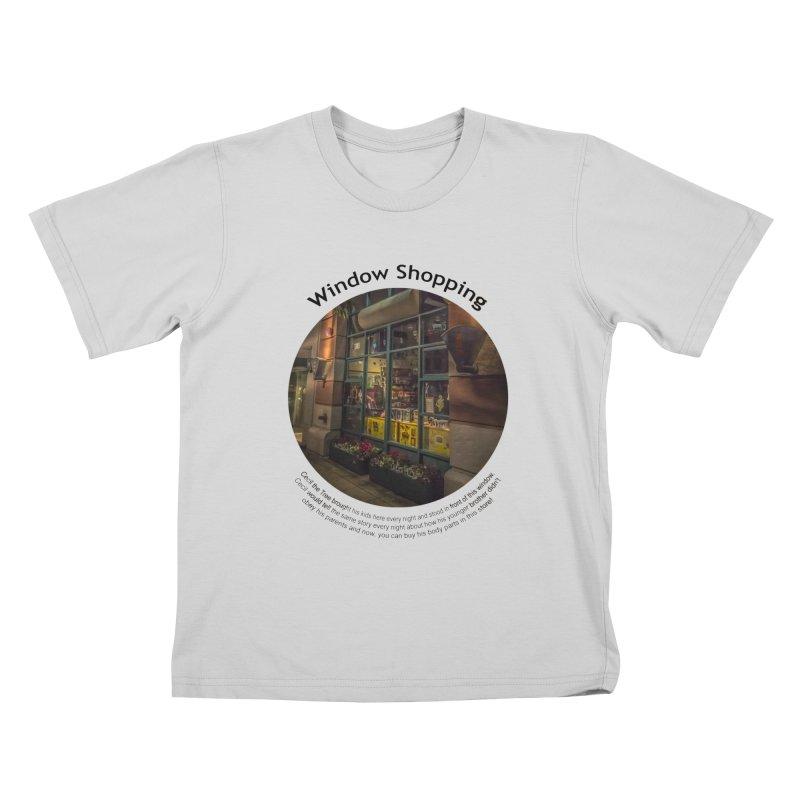 Window Shopping Kids T-Shirt by Hogwash's Artist Shop
