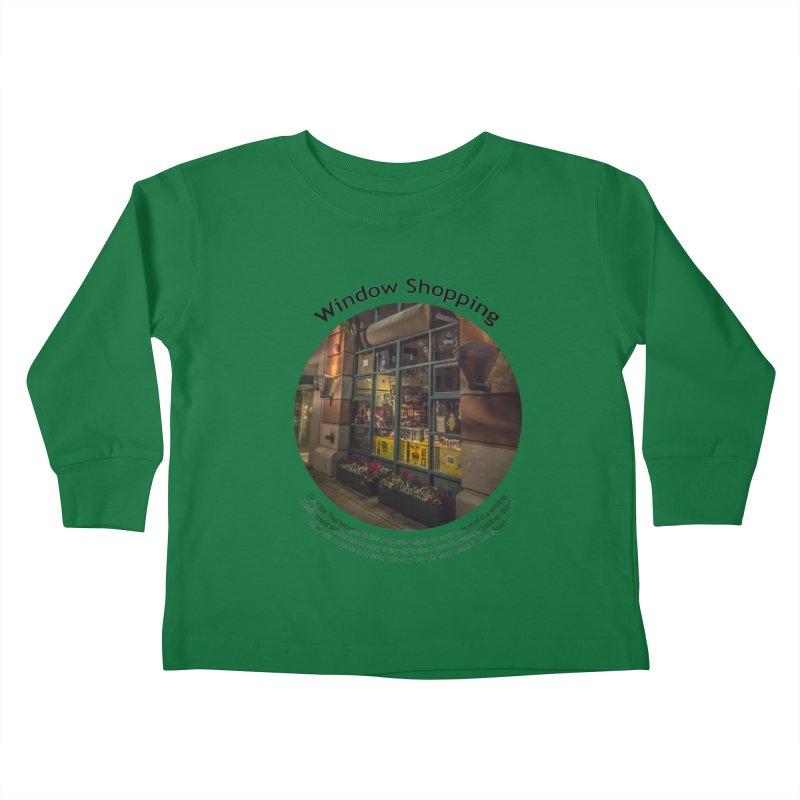 Window Shopping Kids Toddler Longsleeve T-Shirt by Hogwash's Artist Shop