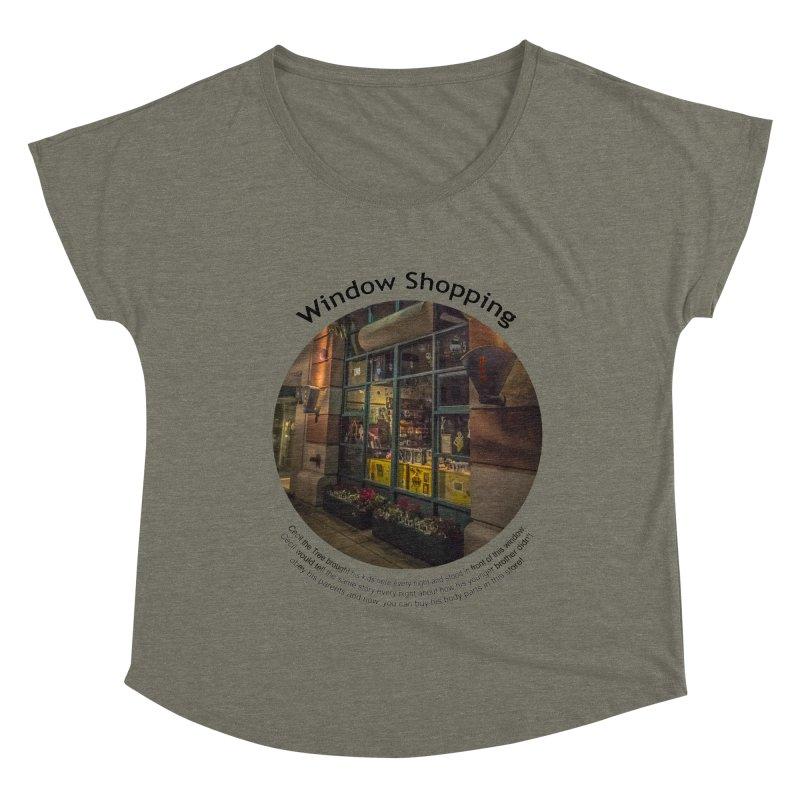 Window Shopping Women's Dolman Scoop Neck by Hogwash's Artist Shop