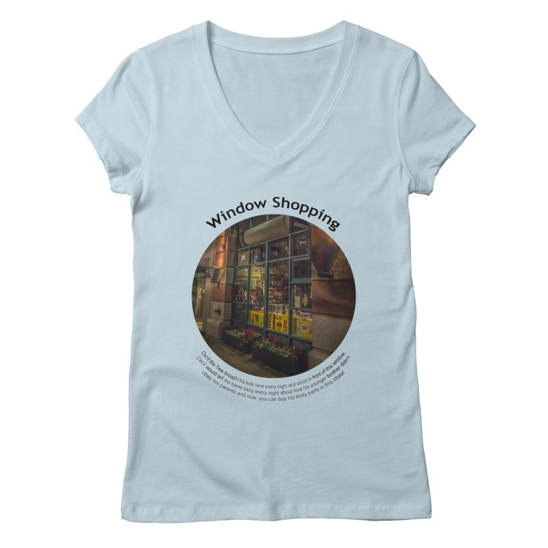 Window Shopping Women's V-Neck by Hogwash's Artist Shop