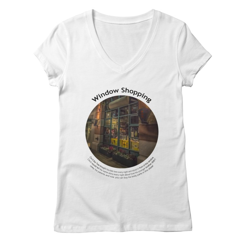Window Shopping Women's Regular V-Neck by Hogwash's Artist Shop