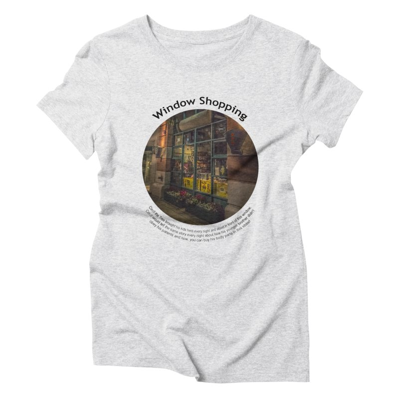 Window Shopping Women's T-Shirt by Hogwash's Artist Shop