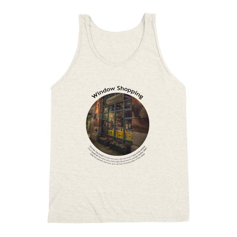 Window Shopping Men's Triblend Tank by Hogwash's Artist Shop